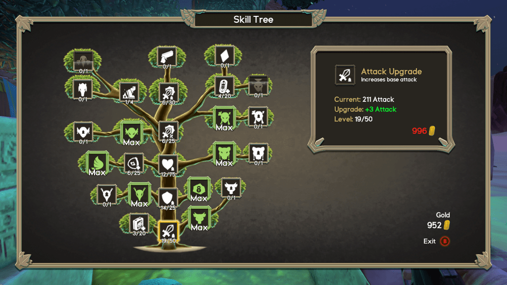 Immortal Redneck Skill Tree